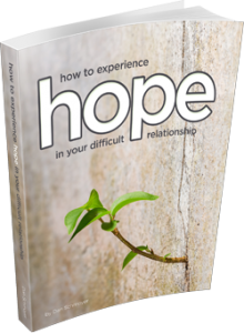 How To Experience Hope in your Difficult Relationships eBook Cover 3D 250px